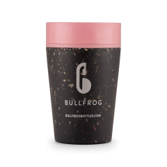 Black and Pink Bullfrog 270ml Coffee Cup
